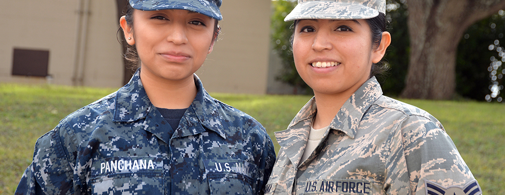 Sisters serve, train together in different services at METC