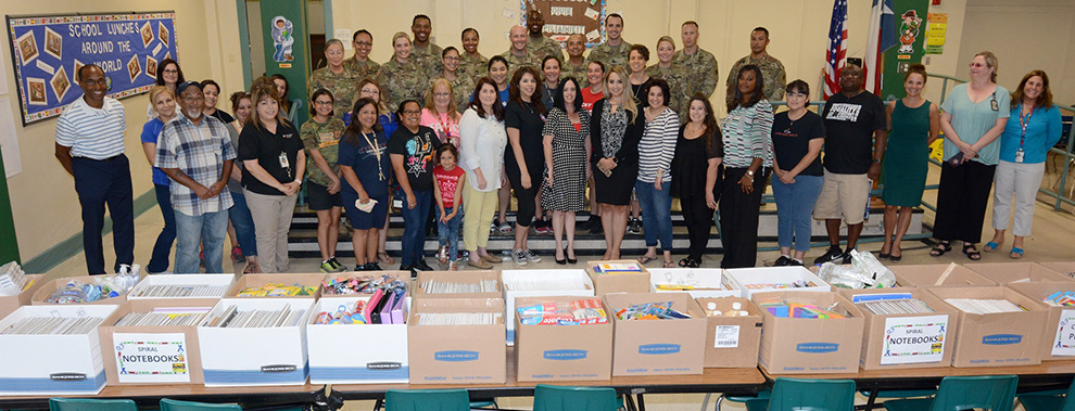 187th Medical Battalion donates more than $10,000 worth of school supplies