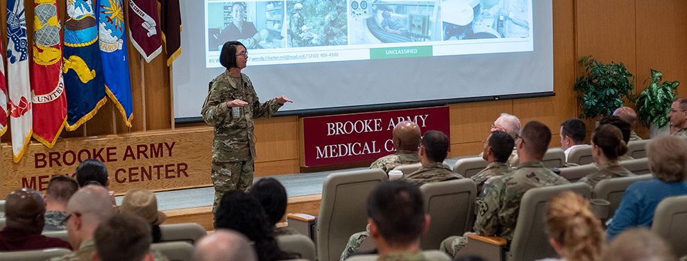 Brooke Army Medical Center commanding general holds first town hall