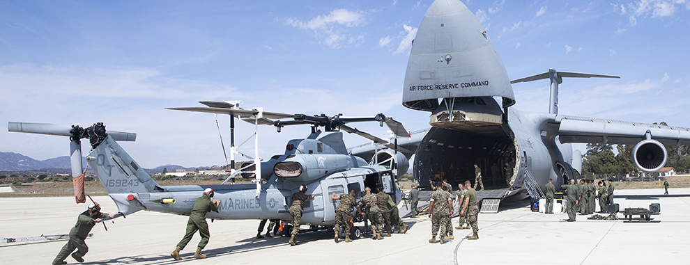 433rd AW Airmen, Marines work together to deploy equipment, personnel