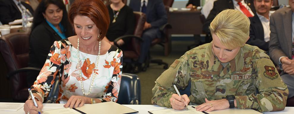 AACOG, JBSA sign blanket intergovernmental support agreement