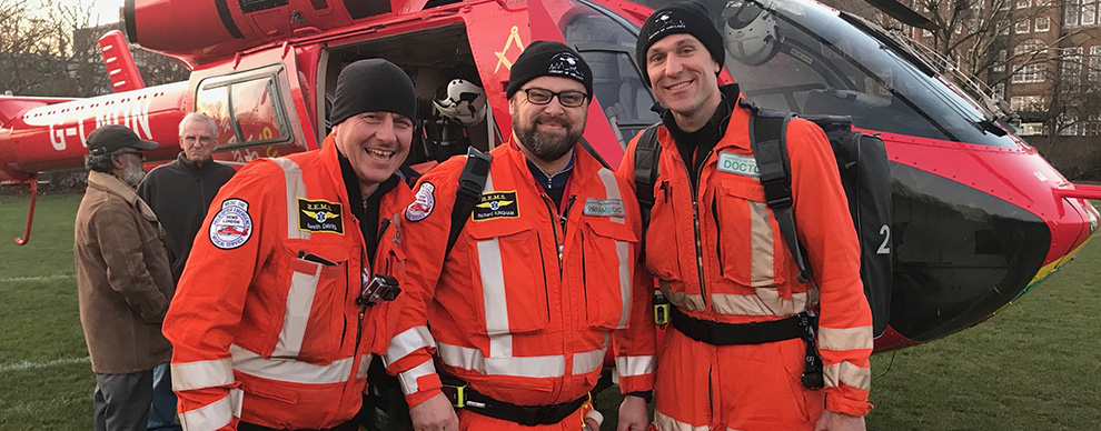Army physician has a life-changing experience with London air ambulance