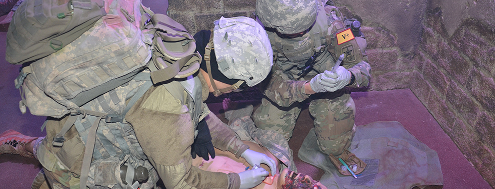 The art of moulage: METC combat medic manikins simulate realistic wounds