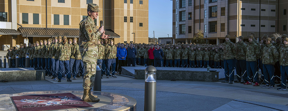 CSAF visits JBSA-Lackland on Standing Watch tour