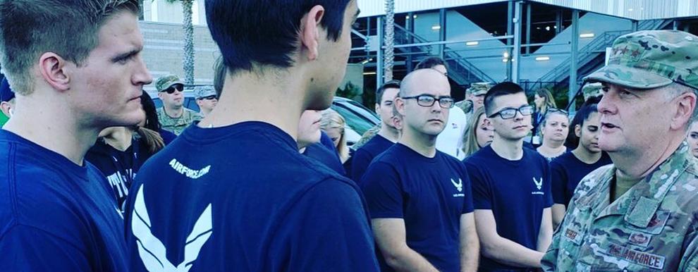 AETC commander swears in recruits