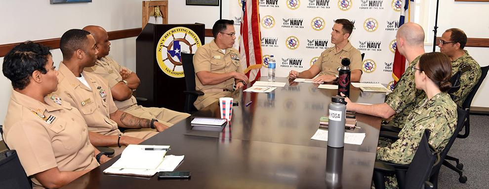 Navy commodore visit