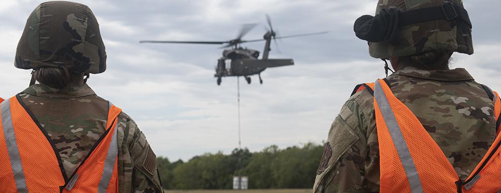 Joint warriors utilize JBSA landing zones for vertical lift training