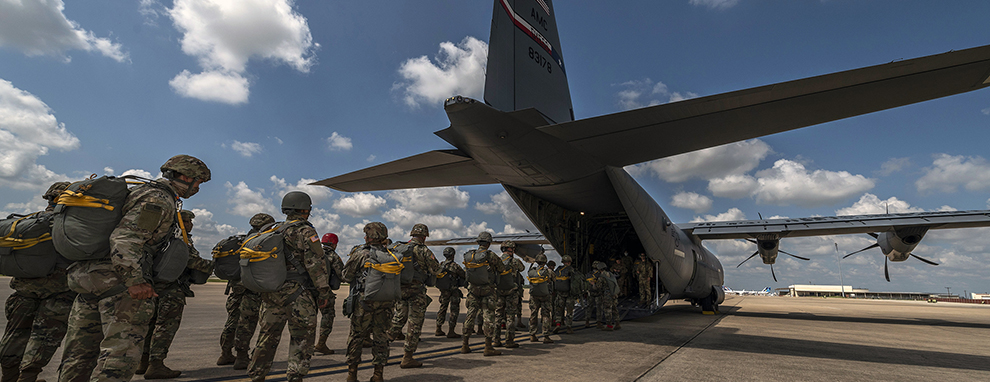 Texas Army National Guard jump at JBSA-Camp Bullis