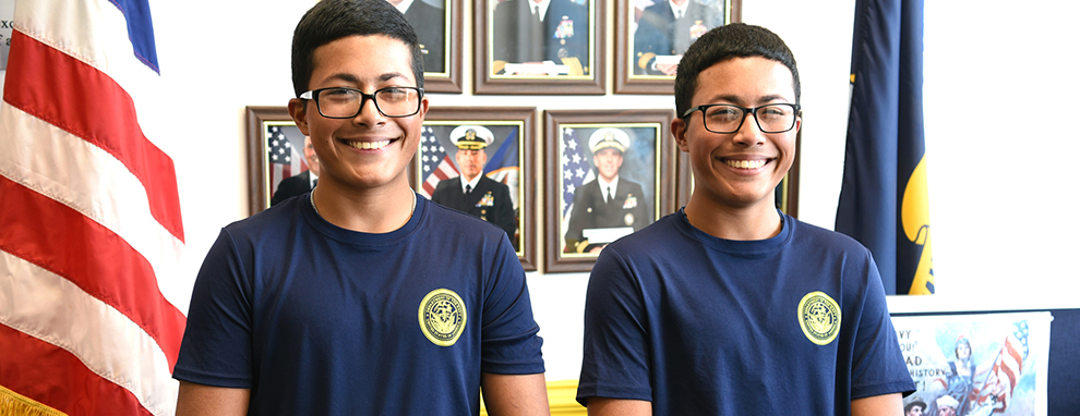 San Antonio twin brothers strengthen bond by joining Navy together