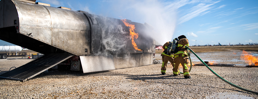 JBSA firefighters conduct semi-annual aircraft rescue, firefighting training