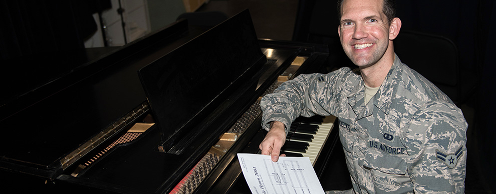Air Force Band of the West Airman passionately serves local community