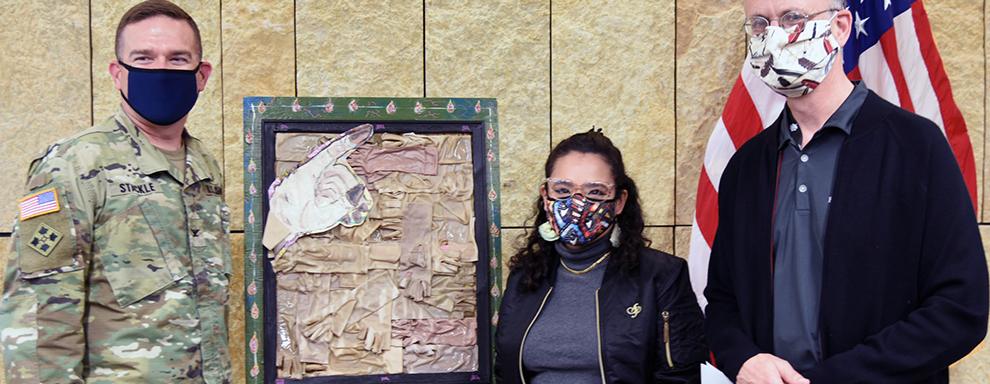 Former burn patient donates artwork to USAISR Burn Center