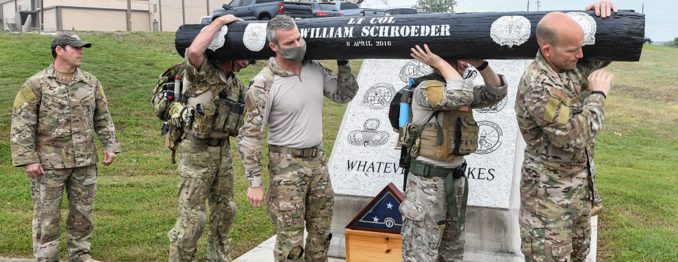 Memorial Log Carry honors Special Warfare Training Wing Airman