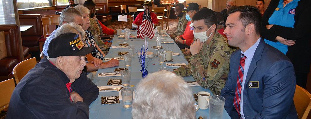 502nd ABW members help celebrate veteran's 100th birthday