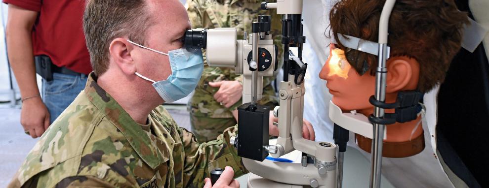 Army tests ophthalmic slit lamp at JBSA-Camp Bullis