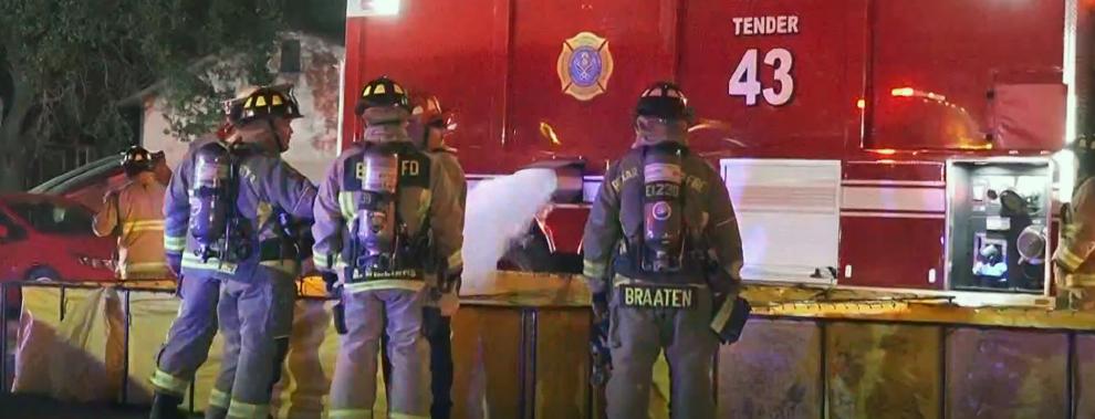 JBSA fire, emergency crews flex joint training skills at massive fire incident