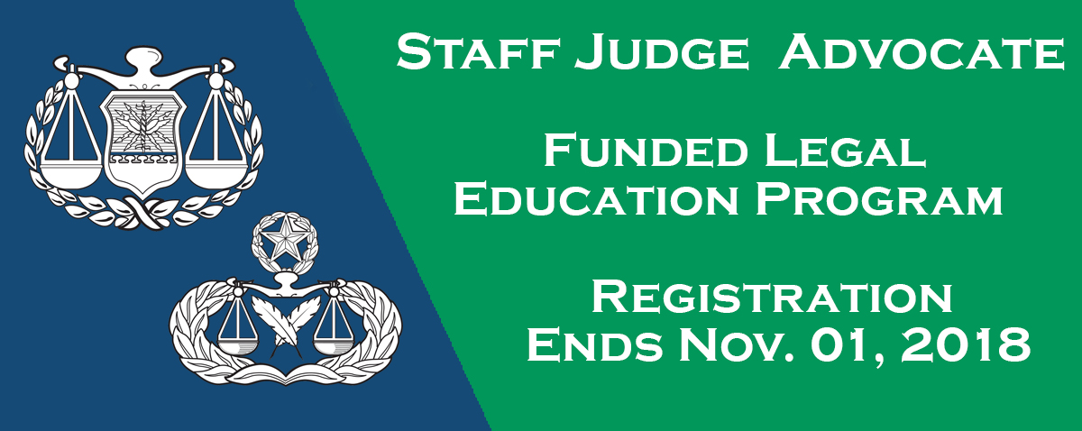 Staff Judge Advocate Funded Legal Education Program